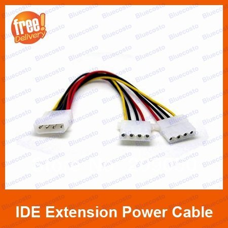 IDE 1 to 2 Splitter Power Extension Power Supply 4pin Molex Cable