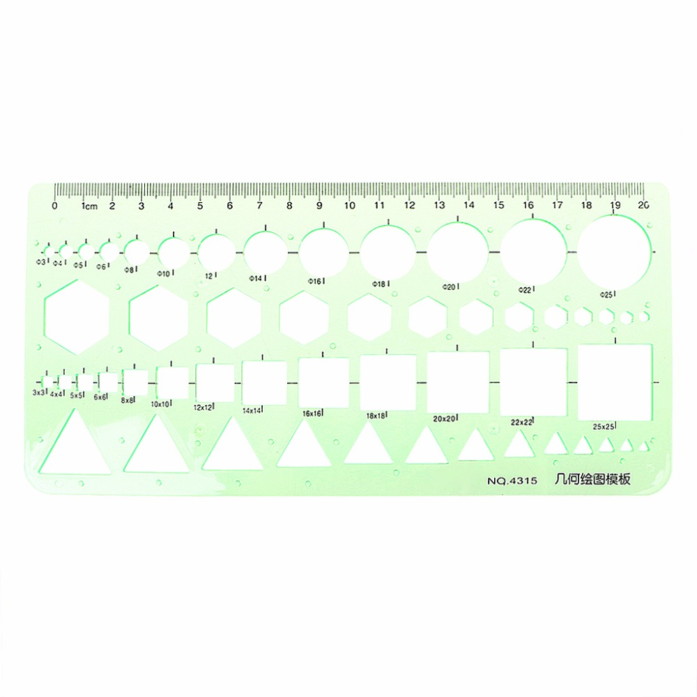 1PC Plastic Circles Geometric Drawing Template Ruler Stencil Measuring Tool Students Office Supply Hyq