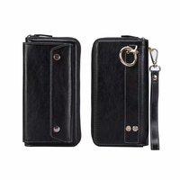 Finger Ring Belt Hand Strap PU Wallet Mobile Phone Case Pouch For iPhone XR/XS Max,Cubot X18 Plus/P20/Power/Nova/J3 Pro