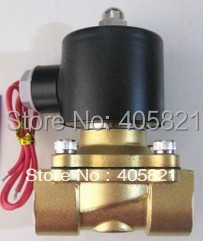 3/4'' 2W Series UD Water Solenoid Valve Brass 2 Way Valve Oil Gas Valves Model 2W200-20,N/C AC220V,DC12V,DC24V 2way2position 3 8 electric solenoid valve n c gas water air 2w160 10