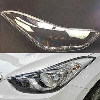 Для hyundai Elantra 2012 2013 2014 2015 2016 фар автомобиля фары прозрачные линзы автомобильный брелок крышка водителя и пассажира сбоку
