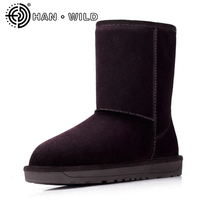 Winter Snow Boots Brand Ankle Genuine Leather Boots Fashion Women Winter Shoes Cow Suede Classic Australian