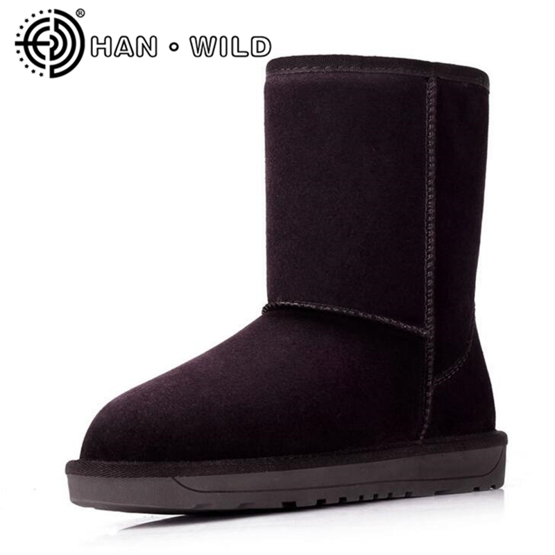 Winter Snow Boots Brand Genuine Leather Boots Fashion Women Winter Shoes Cow Suede Classic Australian Boots Women Shoes classicone woman shoes winter boots genuine leather suede knee high boots flats fur snow boots shoes women s brand fashion style