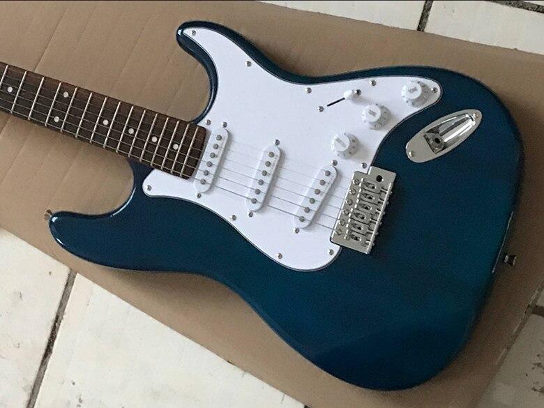 2019 nouveauté Firehawk boutique personnalisée bleu palissandre touche Platane bois corps guitare électrique SSS micros