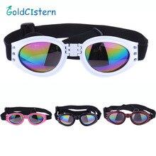 4 Цвета Складные собачьи очки для домашних животных, средние и большие собачьи очки, очки для животных, водонепроницаемые защитные очки для собак, УФ солнцезащитные очки