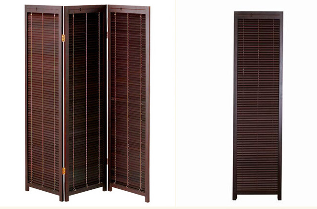 Online Shop Blind Partition Oriental Japanese Style 3 Panel Wood