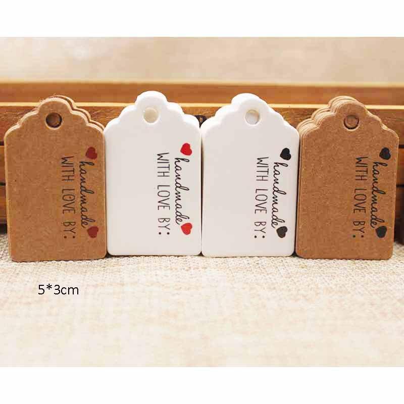 Различные размеры Handmde с красным сердцем метка гребешок подарок метка спасибо бумаги конфеты/свадьба/цветы имя тега 100 шт.