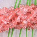 "1 strand Free Shipping Fashion Jewelry Pink Crystal Loose Chip Beads 35""  S031"
