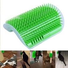 Gatos seguro cómodo auto aseo cepillo para la esquina de la pared de la mano libre de gatos masaje peine, suministros para mascotas gato