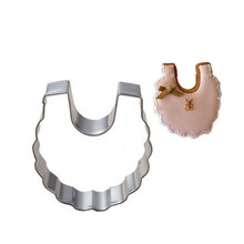 Baby Bib Cookies Cutter Stamp Stainless Steel Biscuit Cake Mold Metal Kitchen Fondant Baking Tools Pastry Molds christmas tree cookies cutter stainless steel biscuit cake mold baking tools