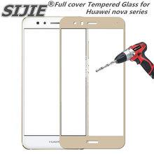 Full cover Tempered Glass for Huawei nova 2 2i 2s 3e lite plus smart 2017 Young