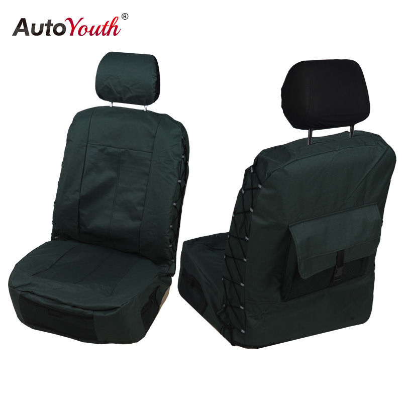 AUTOYOUTH Front Seat Covers Universal Car Seat Covers 3 Colors Durable Oxford Cloth Car Protectors Car