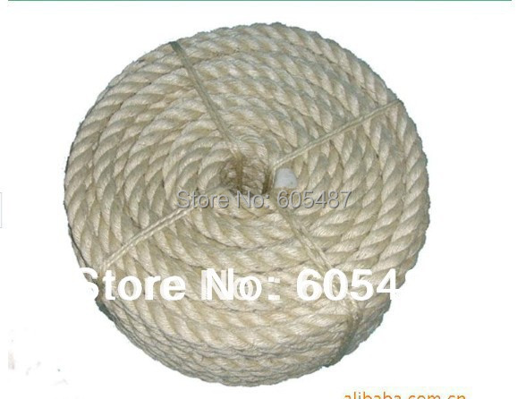 6mm natural sisal rope sisal twine for packing diy cat scratch board cat climbing frame 50m - Sisal Rope