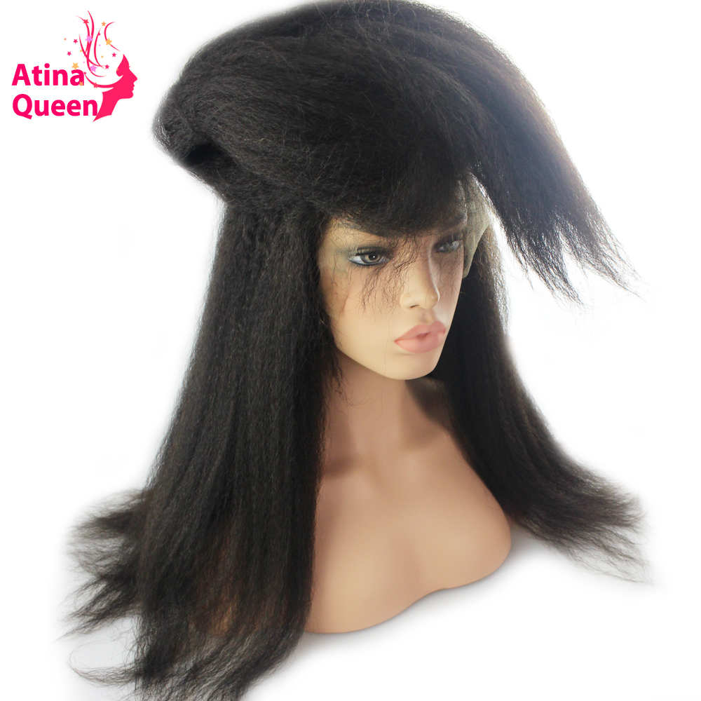 atina queen kinky straight glueless full lace human hair
