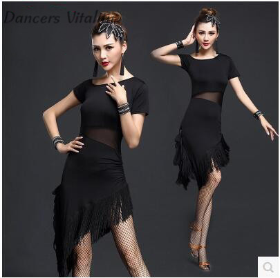 Latin dance dress tango dress women practice dress Latin dance fringe latin dress performance womens latin dance clothes S-3XL