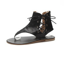 Summer sandals female T-shaped with flip-flops thong designer elastic band ladies gladiator Zapatos Mujer