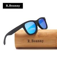 R.Bsunny 2017 New Fashion Polarized Men Women Glasses Bamboo Sunglasses black wooden frame Vintage Wood Sunglass Handmade RZ905