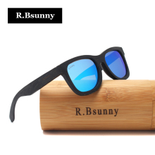 R.Bsunny 2017 New Fashion Polarized Men Women Glasses Bamboo Sunglasses black wooden frame Vintage Wood Sunglass Handmade RZ905