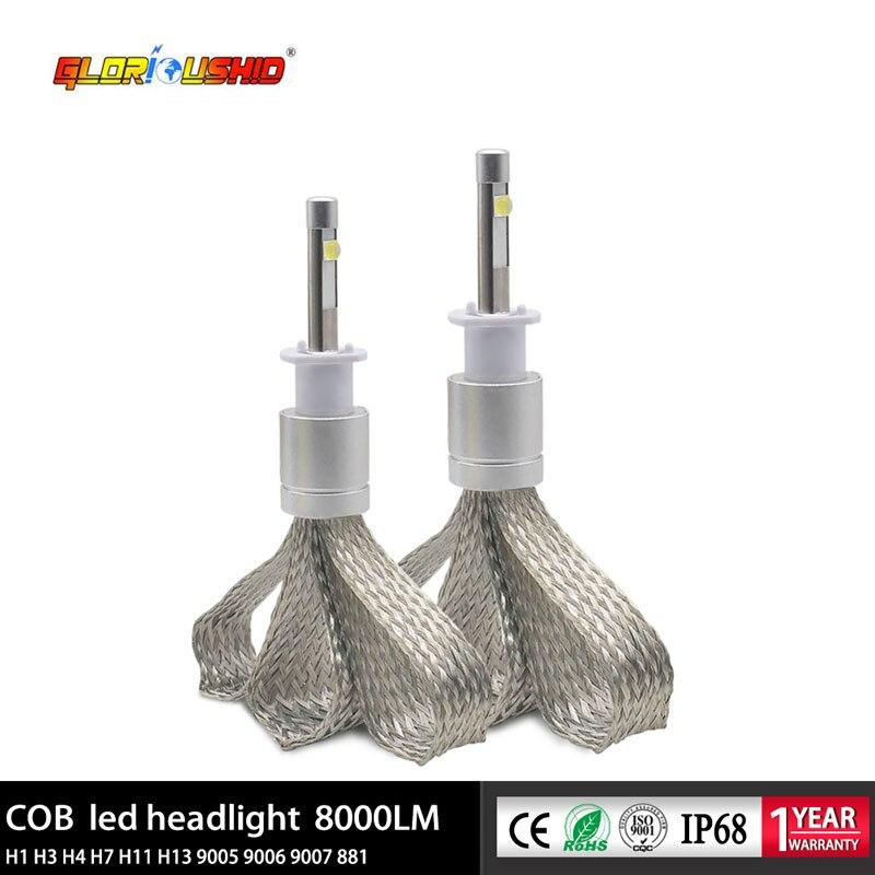 Un ensemble H1 Led voiture phare ampoule 80 W 9600LM Auto voiture lampe antibrouillard 6000 k Led très brillante H1 phare