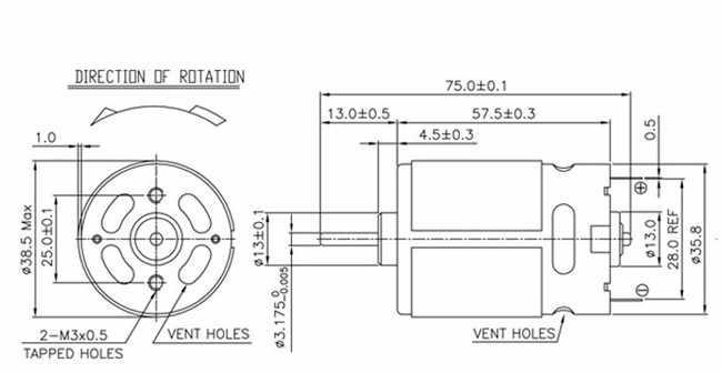 موتور RS-550VC تيار مستمر 14.4 فولت Replac لبوش هيتاشي ماكيتا ديوالت ميتابو ميلووكي هيلتي RYOBI Cordlesse الحفر DC14.4V موتور