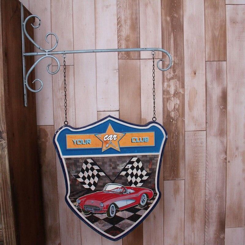 Décoration murale en fer vintage pour Restaurant, café, décoration murale artesanato decoracion hogar decoracion