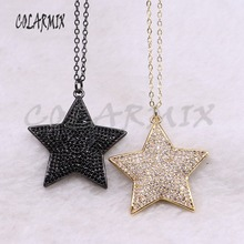 High quality Zircon star metal pendant necklace fashion jewelry  Jewelry gift for lady3522