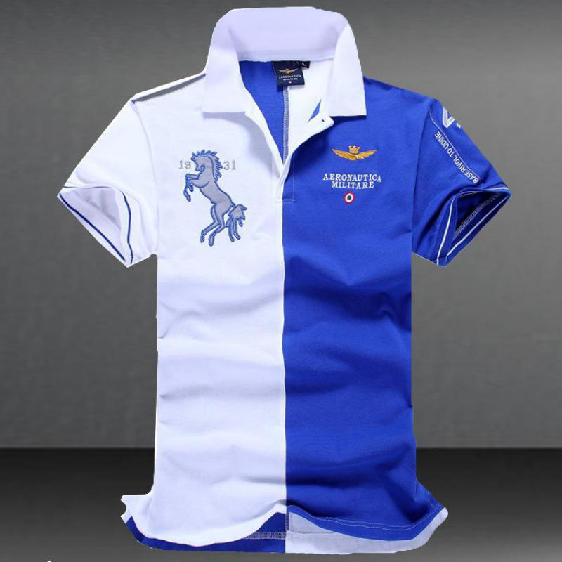 Summer Air Force Ferrari T--shirt Short SleevesMen's   POLO   Shirts Brand Cotton Short Sleeve Camisas solid embroidery   Polo   Summer