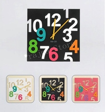 Digital Wall Clock Modern Design 3D Large Decorative Wall Clock Big Novelty Silent Wall Clocks Home