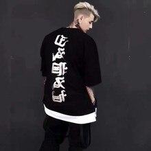 Men Hip Hop T Shirt Man T shirt Street Vogue Loose Couple Tee Shirt Casual Tshirt