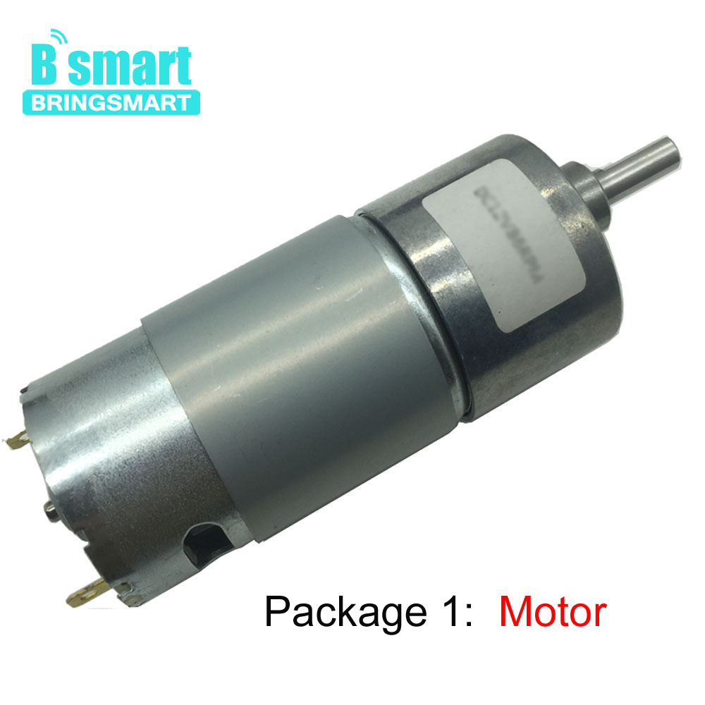 Bringsmart JGB37-550 DC Geared Motor 6V 12V Mini Reducer Motor High Torque Reversed Gearbox for DIY Intelligent Vehicle Motor