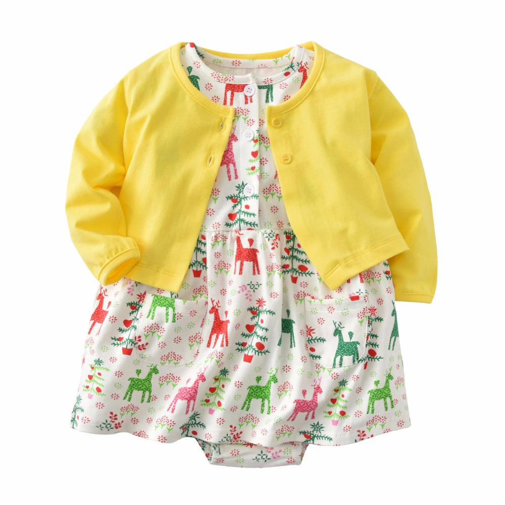 Baby Girl Rompers Spring Baby Girl Clothing Set Cardigan Newborn Clothing Cotton Baby Girl Clothes Roupas Infant Baby dress baby girl dress spring children girl clothing set cotton girl sets white lace skirt cute roupas bebe 2018 summer kid clothes