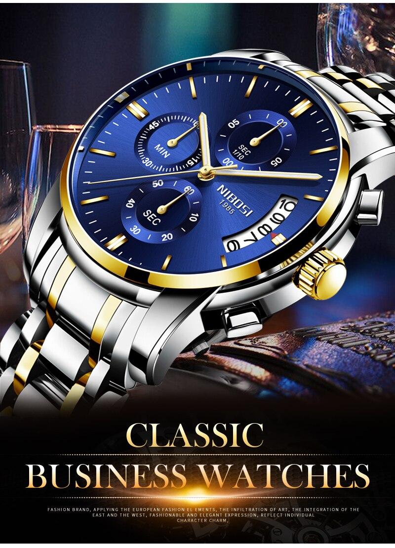 Relogio Masculino NIBOSI Mens Watches Top Brand Luxury Dress Famous Brand Watch Men Waterproof Calendar Luminous Erkek Kol Saati (5)