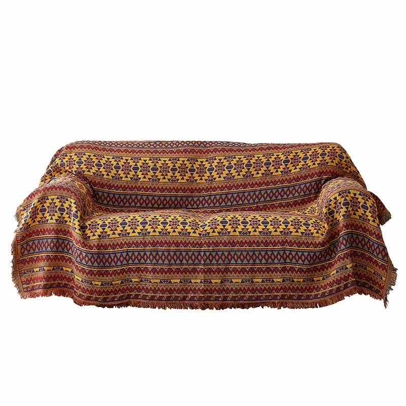 Cilected Orange Plaids Throw Blankets For Sofa Cotton Woven Couch Blanket  Decorative Large Warm Throws For Living Room