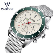 CADISEN Mens Watches Waterproof Quartz Watch Men Fashion Chronograph Sport Wristwatch Relogio Masculino