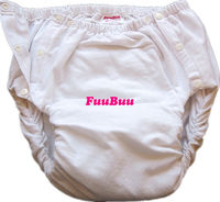 Free Shipping FUUBUU2042 WHITE Adult Diaper/ incontinence pants/ diaper changing mat/Adult baby