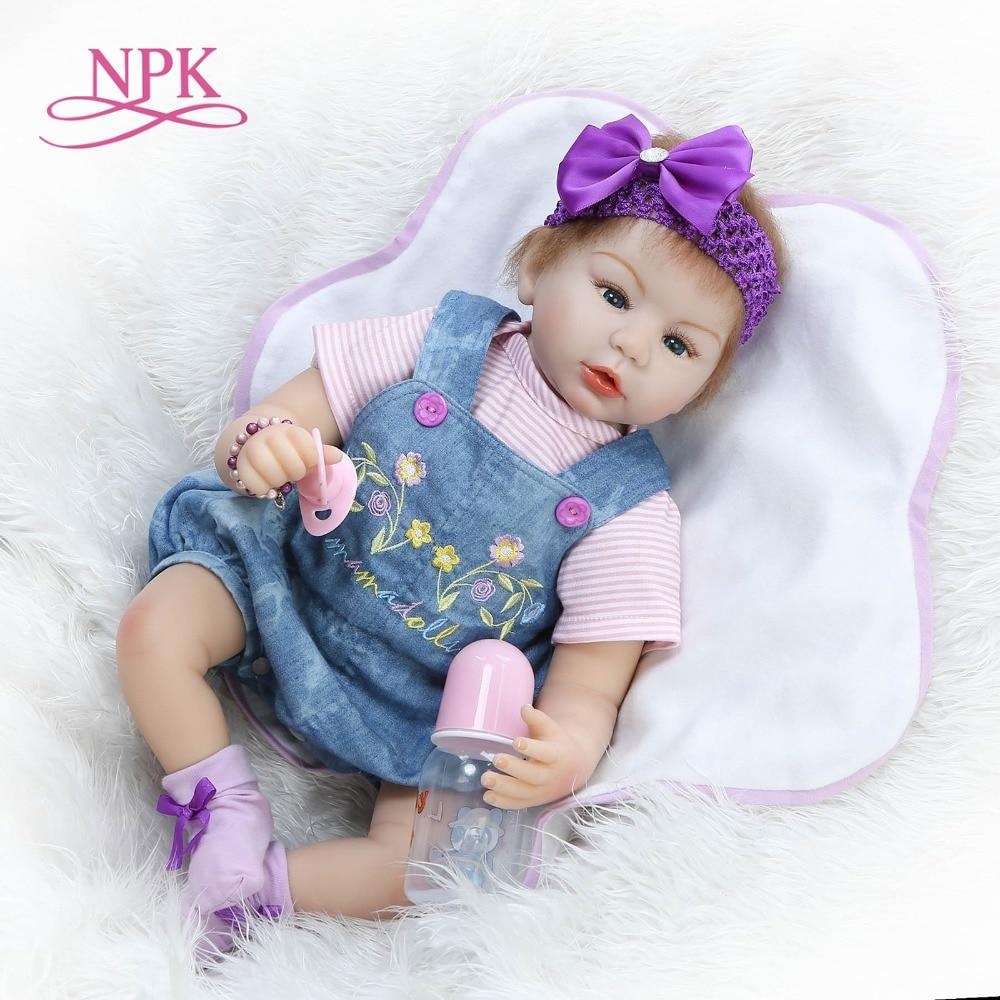 Здесь продается  NPK New design 55cm Realistic doll soft silicone reborn baby doll playing toys for kids Christmas sweet baby  Игрушки и Хобби