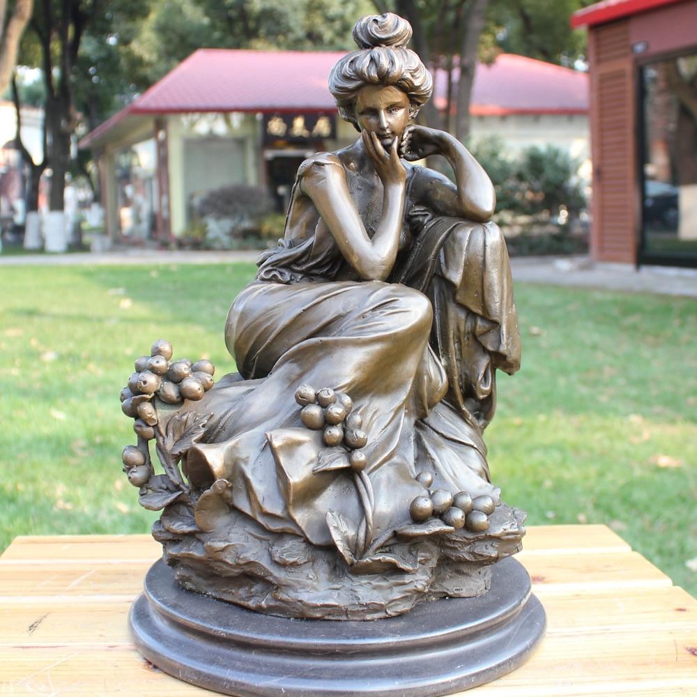 Rose Grape goddess bronze sculpture crafts European classical statue Home Furnishing ornaments gifts