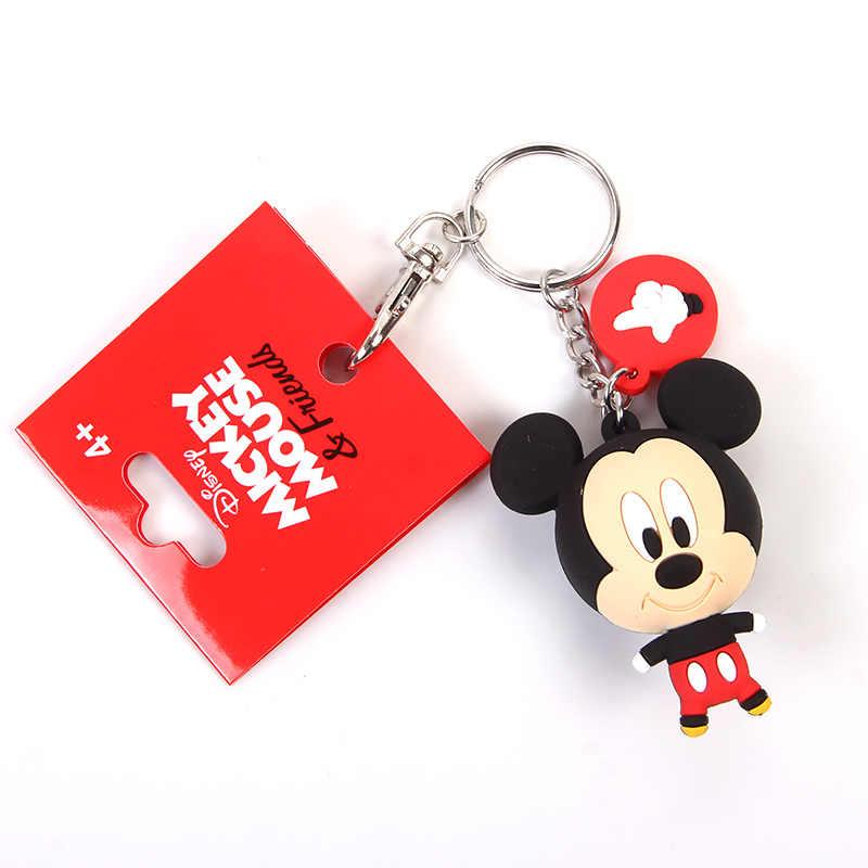חדש פופ Cartoon PVC Keychain מיקי מיני הילדים Keychain מפתח מחזיק תיק תליון קסמי אוהדי מתנה מפתח ארנק אבזרים