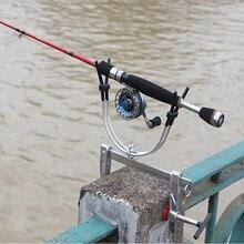 2017 NEW Multi-function Metal Adjustable Raft Fishing Rack Pole Bracket Fishing Bamboo Clamp Boat Fishing marine fishing Foot cl