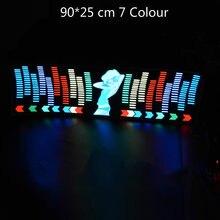 90*25 Cm 7 Kleur Muziek Ritme Eq Auto Sticker Muziek Equalizer Op Voorruit Led Sound Muziek Geactiveerd el Sheet Lijm Stickers