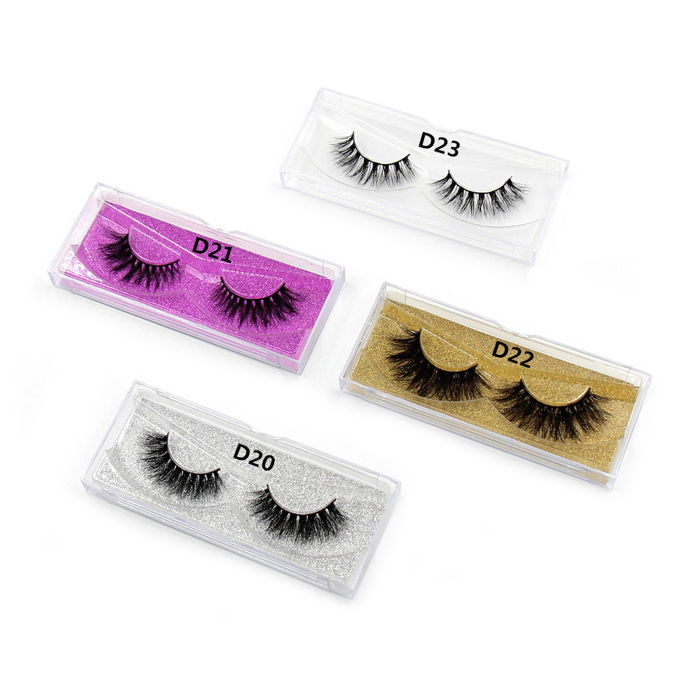 LEHUAMAO Mink Lashes 3D Mink False Øjenvipper Langvarige Lashes Natural Lightweight Mink Øjenvipper Glitter Emballage Ny 1 Par