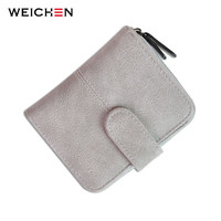 Korean Brand Design Women Faux Suede Leather Wallets Coin Bag Small Wallet Purse Mini Zipper Hasp