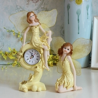 Pastoral Resin Beautiful Angel Doll Ornaments Crafts Home Livingroom Bedroom Furnishing Deocration TV Cabinet Accessories Decor