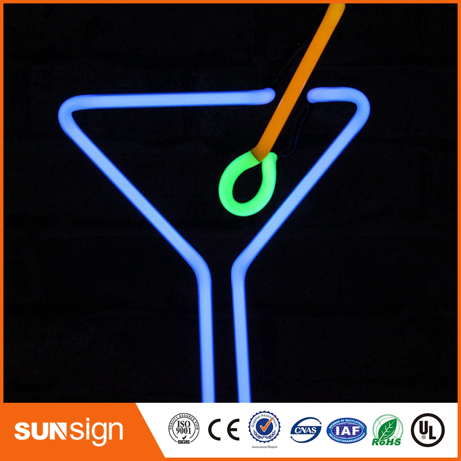 Roar colorful custom signs neon glass tubing signage