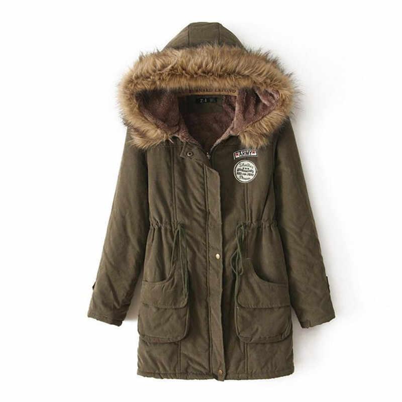 2018 herbst und winter England neue stil dame mantel jacke doppel tasche taille typ Dünne zeigen körper mit kapuze dicke warme jacke