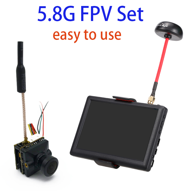Easy to use 5.8G FPV set video transmitter with ccd 700TVL FPV camera Little Pilot 5 inch 40CH Monitor for Racing Drone RC carEasy to use 5.8G FPV set video transmitter with ccd 700TVL FPV camera Little Pilot 5 inch 40CH Monitor for Racing Drone RC car