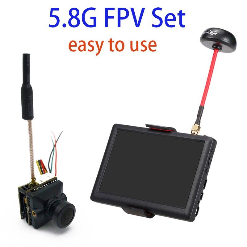 Transmetteur vidéo 5.8G FPV facile à utiliser avec caméra ccd 700TVL FPV petit pilote moniteur 5 pouces 40CH pour voiture de course Drone RC-in Pièces et accessoires from Jeux et loisirs    1