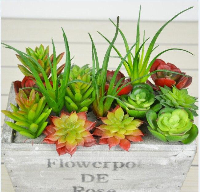 Order Must Big Than $12 Land Lotus Rare Plants Artificial Echeveria Succulent Grass Plant Landscape Fake Flower DIY Home/Wedding