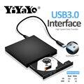 YiYaYo externo USB 3,0 DVD RW CD/DVD-ROM reproductor de CD/DVD-RW quemador escritor y lector de grabadora portátil para windows PC móvil