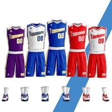 2019 New Men Basketball jerseys Sets Fashion Reversible Suit Shirt uniform Training Shorts Sportswear